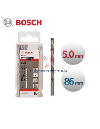 Сверло по металлу 5,0мм HSS-G//Bosch